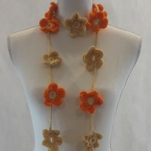 Lariat, Necklace, Crochet, Hand Crafted, Long